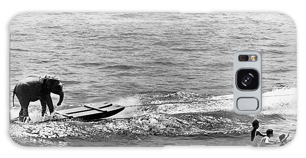 Powerboat Galaxy Case - Water Skiing Elephant by Underwood Archives