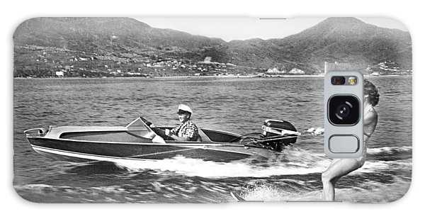 Powerboat Galaxy Case - Water Skiing In Acapulco by Underwood Archives