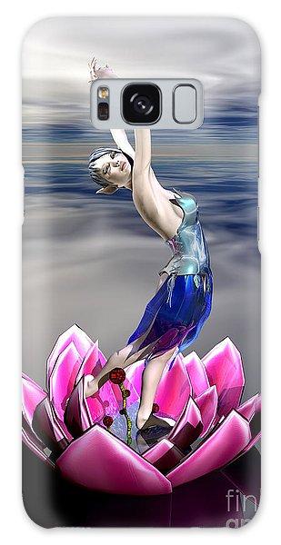 Galaxy Case featuring the digital art Water Sprite by Sandra Bauser Digital Art