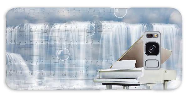 Water Synphony For Piano Galaxy Case by Angel Jesus De la Fuente