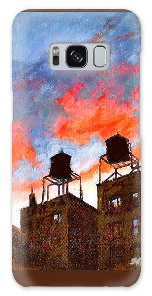 Water Towers At Sunset No. 1 Galaxy Case