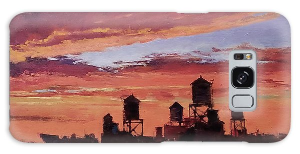 Water Towers At Sunset No. 4 Galaxy Case
