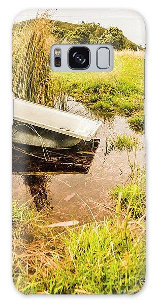 Bath Galaxy Case - Water Troughs And Outback Farmland by Jorgo Photography - Wall Art Gallery
