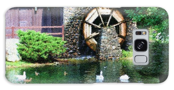 Water Wheel Duck Pond Galaxy Case