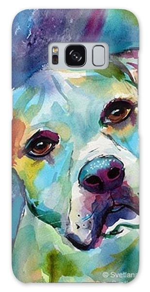 Watercolor American Bulldog Painting By Galaxy Case