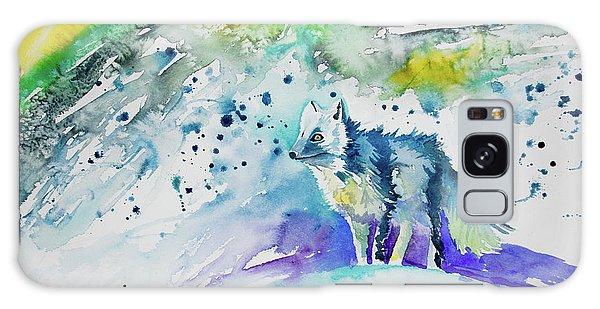 Watercolor - Arctic Fox Galaxy Case