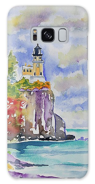 Watercolor - Autumn At Split Rock Lighthouse Galaxy Case