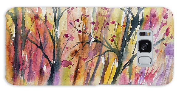 Watercolor - Autumn Forest Impression Galaxy Case