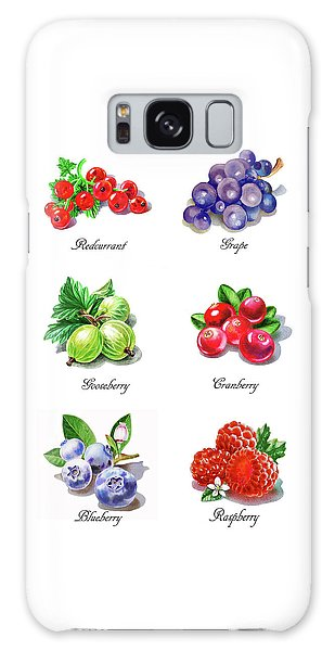 Raspberry Galaxy S8 Case - Watercolor Berries Illustration Collection I by Irina Sztukowski