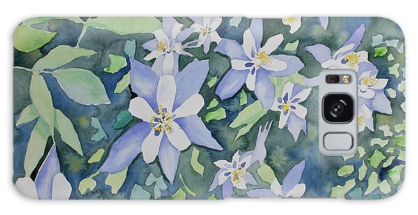 Watercolor - Blue Columbine Wildflowers Galaxy Case