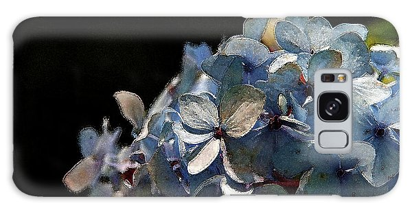 Watercolor Blue Hydrangea Blossoms 1203 W_2 Galaxy Case