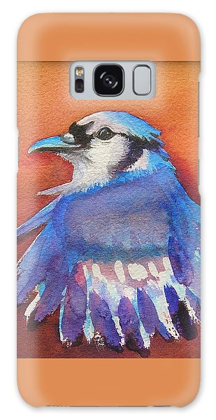 Watercolor Blue Jay Galaxy Case by Patricia Piffath