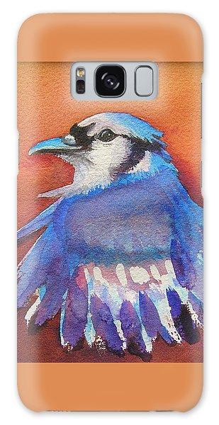 Watercolor Blue Jay Galaxy Case