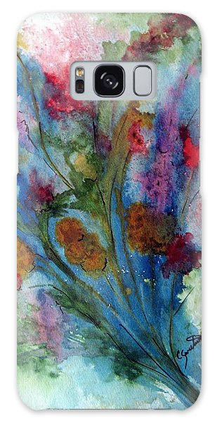 Watercolor Bouquet Galaxy Case by Carol Sweetwood