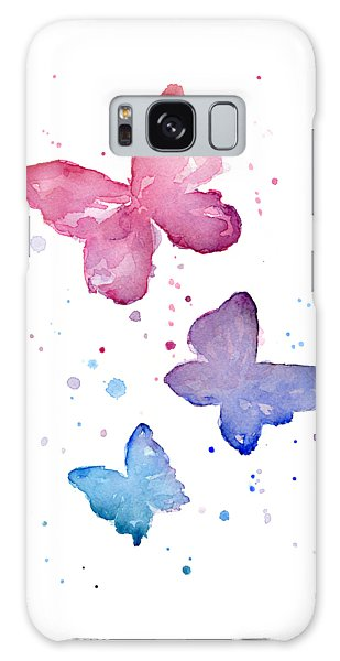 Insects Galaxy Case - Watercolor Butterflies by Olga Shvartsur