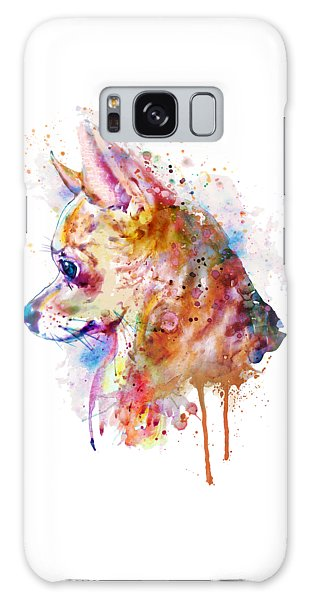 Watercolor Pet Portraits Galaxy Case - Watercolor Chihuahua  by Marian Voicu