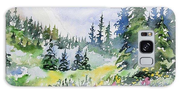 Watercolor - Colorado Summer Scene Galaxy Case