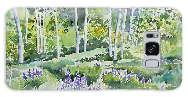 Watercolor - Early Summer Aspen And Lupine Galaxy Case