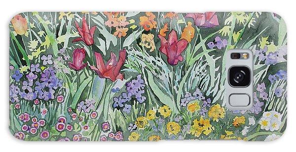 Watercolor - Empress Hotel Gardens Galaxy Case
