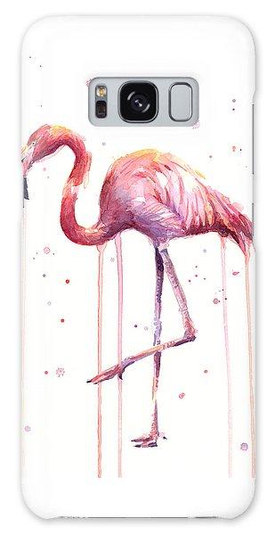 Bird Galaxy Case - Watercolor Flamingo by Olga Shvartsur