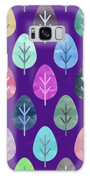 Watercolor Forest Pattern II Galaxy Case by Amir Faysal