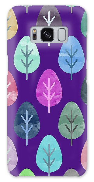 Fall Galaxy Case - Watercolor Forest Pattern II by Amir Faysal