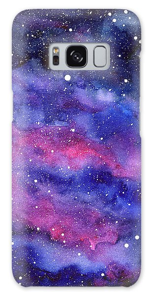 Galaxy Galaxy Case - Watercolor Galaxy Pink Nebula by Olga Shvartsur