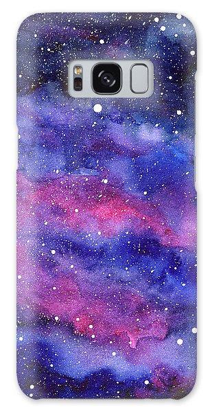 Outer Space Galaxy Case - Watercolor Galaxy Pink Nebula by Olga Shvartsur