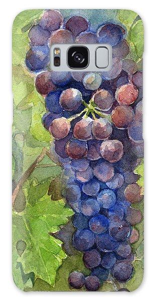 Grape Galaxy Case - Watercolor Grapes Painting by Olga Shvartsur