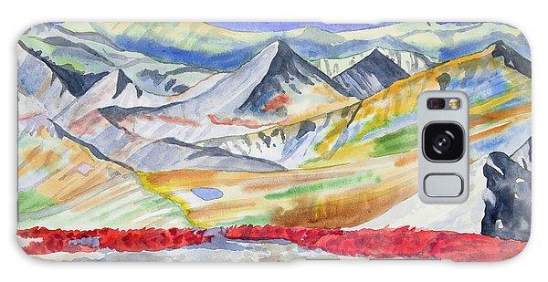 Watercolor - High Alpine Autumn Landscape Galaxy Case