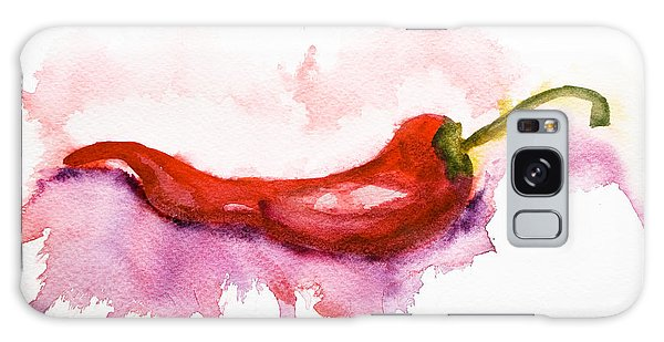 Watercolor Illustration Of Red Hot Chili Pepper  Galaxy Case
