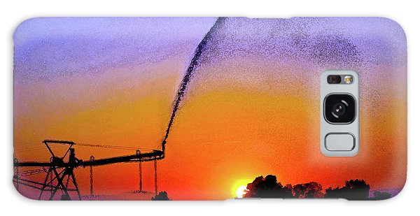 Watercolor Irrigation Sunset 3243 W_2 Galaxy Case