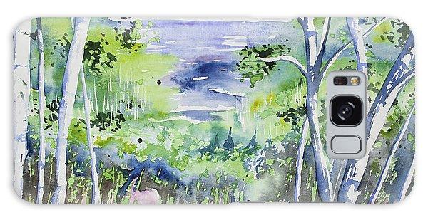 Watercolor - Lake Superior Impression Galaxy Case