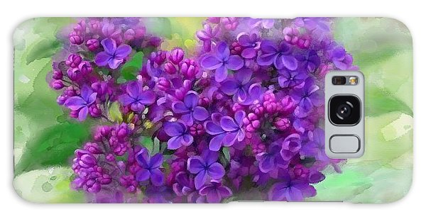 Galaxy Case featuring the painting Watercolor Lilac by Ivana Westin