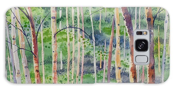 Watercolor - Magical Aspen Forest After A Spring Rain Galaxy Case