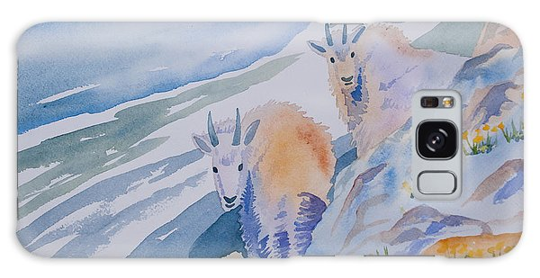 Watercolor - Mountain Goats On Quandary Galaxy Case
