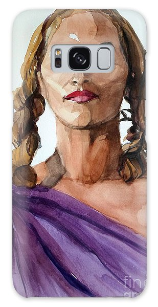 Portrait In Watercolor Of A Brooklyn Queen Galaxy Case
