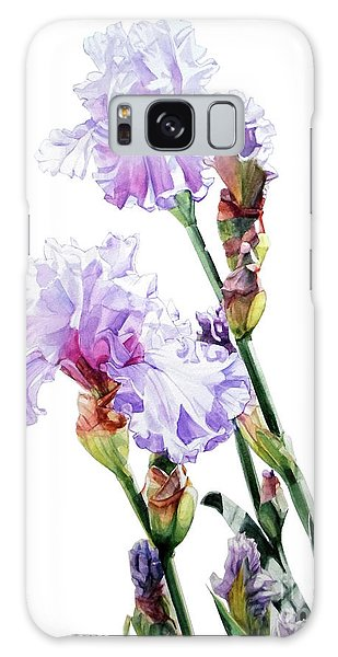 Watercolor Of A Tall Bearded Iris I Call Lilac Iris Wendi Galaxy Case