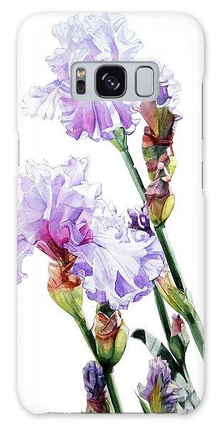 Watercolor Of A Tall Bearded Iris I Call Lilac Iris Wendi Galaxy Case