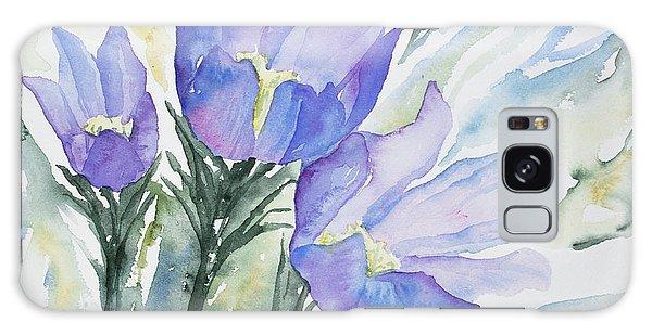 Watercolor - Pasque Flowers Galaxy Case