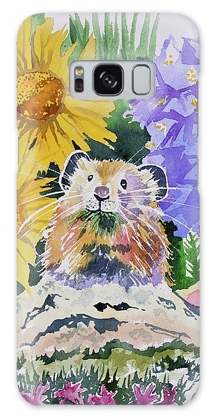 Watercolor - Pika With Wildflowers Galaxy Case