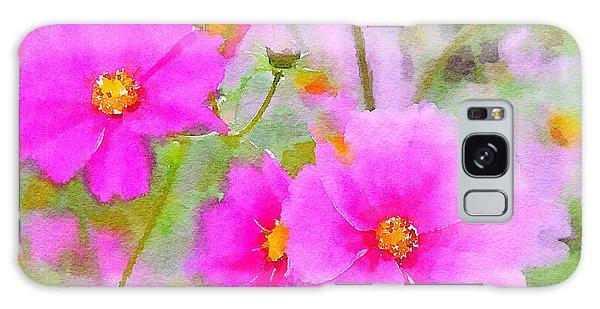 Watercolor Pink Cosmos Galaxy Case by Bonnie Bruno
