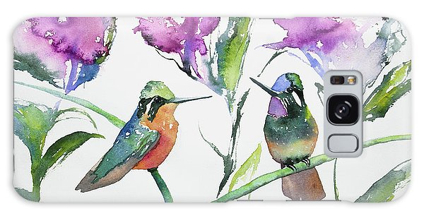 Watercolor - Purple-throated Mountain Gems And Flowers Galaxy Case