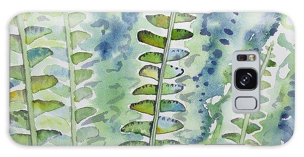 Watercolor - Rainforest Fern Impressions Galaxy Case