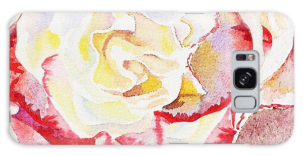 Hyper-realistic Galaxy Case - Watercolor Rose Close Up  by Irina Sztukowski