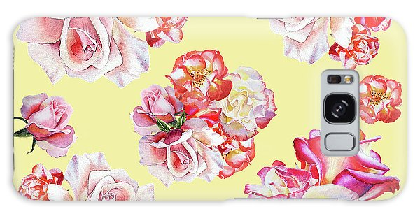 Galaxy Case featuring the painting Watercolor Roses Golden Dance by Irina Sztukowski