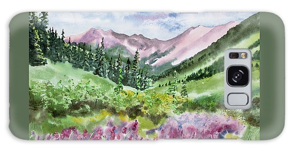 Watercolor - San Juans Mountain Landscape Galaxy Case