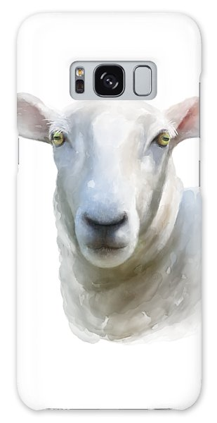 Galaxy Case featuring the painting Watercolor Sheep by Ivana Westin