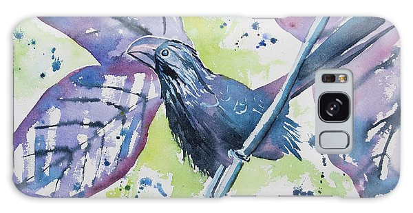 Watercolor - Smooth-billed Ani Galaxy Case