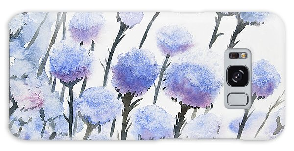 Watercolor - Snow-covered Seed Pods Galaxy Case